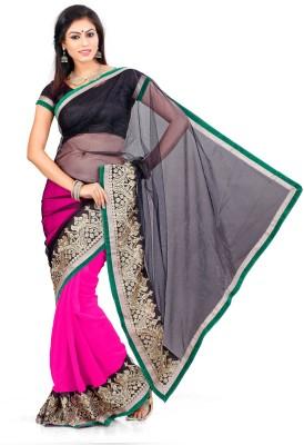 Indian Saree Self Design Bollywood Georgette, Net Sari