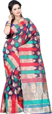 Deal Fashion Printed Fashion Banarasi Silk Sari