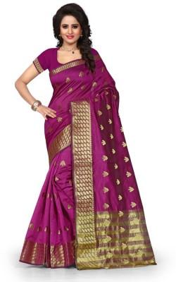 Style U Self Design Banarasi Poly Silk Sari