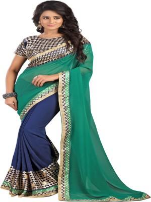 Newlook impex Self Design Fashion Georgette Sari