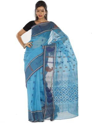 Sanrocks Global Fashions Woven Tant Cotton Sari