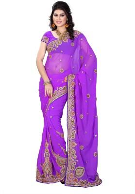 Online Adda Embriodered Fashion Georgette Sari
