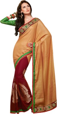 Hypnotex Self Design Fashion Viscose Sari
