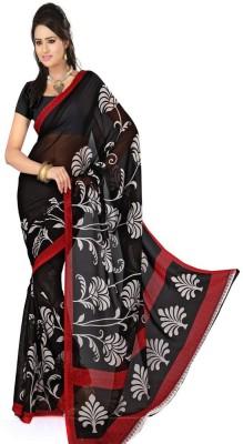 Pooja Fashions Printed Fashion Crepe Sari