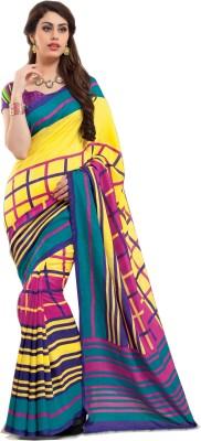 Swaman Geometric Print Fashion Jute Sari
