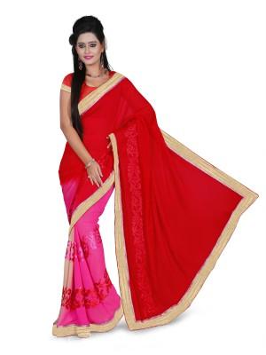 Aanchal Fashion Self Design Fashion Chiffon Sari