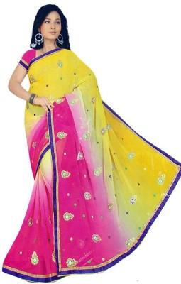 Ak designs Self Design Fashion Synthetic Sari