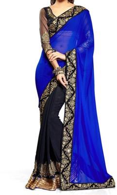 Eagle Fashion Self Design Bollywood Handloom Georgette Sari