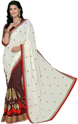 Hargovind Saree Mills Embriodered Bollywood Handloom Chiffon Sari