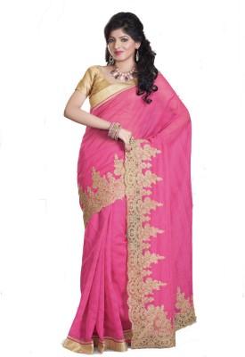 Glad2baWoman Floral Print, Woven Bomkai Net Sari