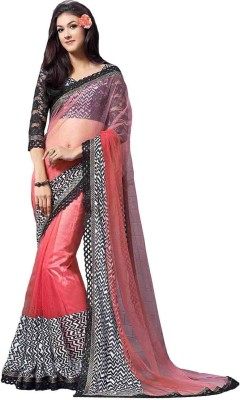Fashion On Sky Printed Fashion Georgette, Net Sari