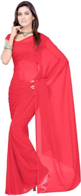 Nikita Sarees Solid Fashion Georgette Sari