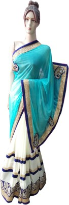 Desiner Embriodered Daily Wear Synthetic Sari