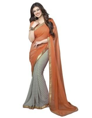 JasHiru Floral Print Bollywood Georgette Sari