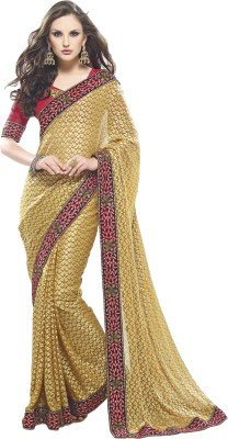 Alira Self Design Fashion Brasso Sari