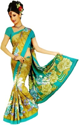 Coloursexports Floral Print Daily Wear Synthetic Georgette Sari