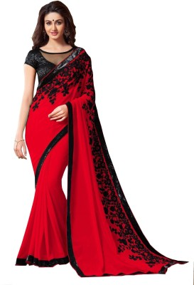 Khusi Fashion Embriodered Fashion Georgette Sari