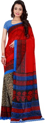 Today Deal Printed Fashion Georgette Sari
