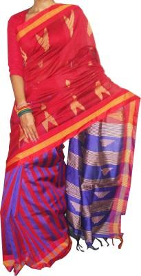 ZORIA Geometric Print Shantipur Silk Sari