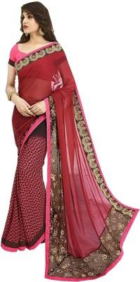 Gaurangi Creations Embriodered Fashion Georgette Sari