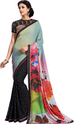 Brijraj Embellished Fashion Net, Jacquard, Silk Sari