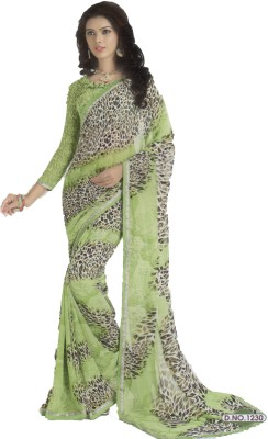 Shilpkar Self Design Bollywood Chiffon Sari