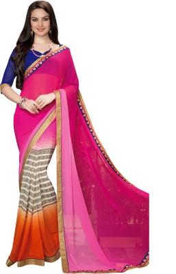 Fashion Forever Printed Fashion Chiffon Sari