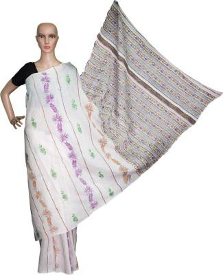 Prateeti Embriodered Katha Handloom Cotton Sari