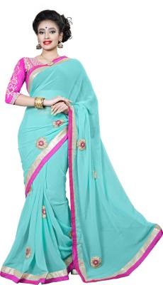 Ridhi Sidhi Self Design, Embriodered Fashion Chiffon Sari