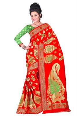 Weavedeal Embellished Kanjivaram Handloom Silk Cotton Blend Sari