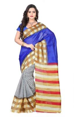 Aks Worldshop Printed Daily Wear Dupion Silk Sari