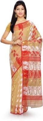 Rudrakshhh Dhakai Embriodered Jamdani Handloom Cotton Sari
