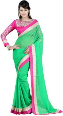 Mac Enterprise Self Design Bollywood Chiffon Sari
