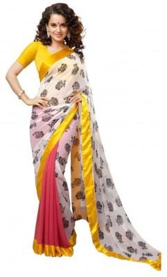 Nena Fashion Printed Bollywood Handloom Georgette Sari