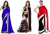 Red Apple Striped, Self Design Fashion G...
