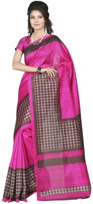 Yehii Polka Print Fashion Silk Sari