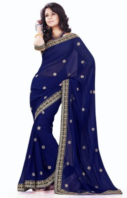 Godavari Fashion Hub Embriodered Daily Wear Georgette Sari