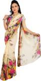 Rama Printed Fashion Georgette Saree (Be...