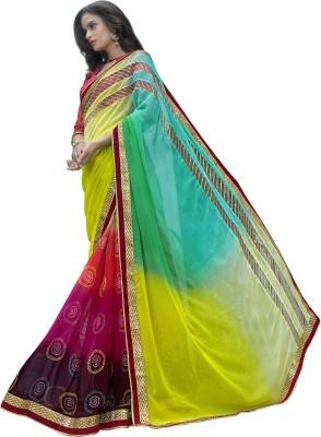 Triveni Printed Fashion Georgette, Chiffon Sari