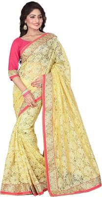 Shiddhi Vinayak Creation Embriodered Bollywood Brasso Fabric Sari