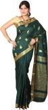 JCN Self Design Mysore Cotton Saree (Dar...