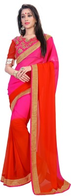sivermoonfashion Self Design Fashion Georgette Sari