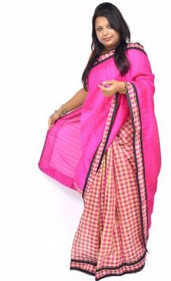 Gulmohaar Geometric Print Bollywood Silk Sari