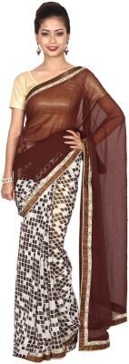 Arisidh Checkered Fashion Georgette Sari