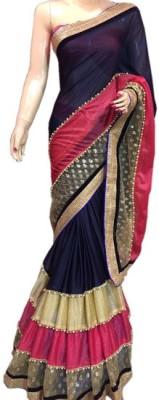 Creative Fashion Self Design Fashion Lycra Sari