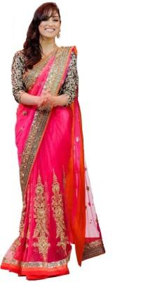 SanjuFashion Solid Bollywood Net Sari