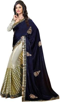 SUHRAD CREATION Plain Fashion Velvet Sari