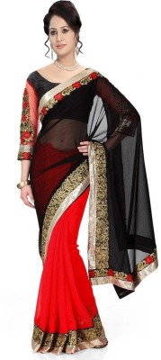 Jhalak Embriodered Bollywood Chiffon Sari