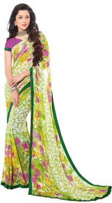 Salwar Studio Floral Print, Paisley, Printed Daily Wear Synthetic Georgette Sari