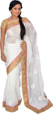 Pooja Embriodered Bollywood Handloom Chiffon Sari